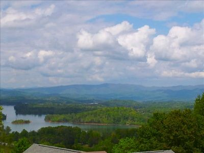 Hiawassee chalet rental - Look down and out at miles & miles of beautiful landscape!