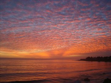 Santa Cruz apartment rental - Untouched photo of winter sunset two blocks from West Cliff Hideaway!