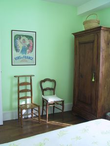 The house is furnished with local antiques