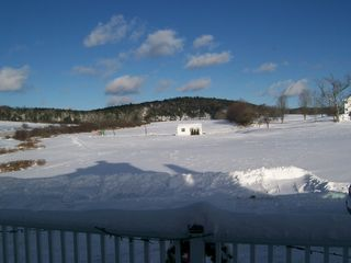 Jefferson farmhouse photo - Winter wonderland - view from front deck.
