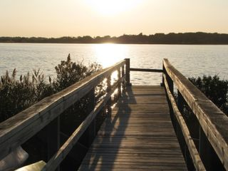 Private walkway down to the water - East Moriches house vacation rental photo