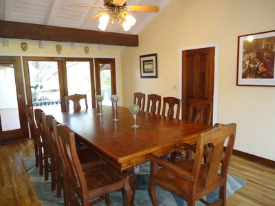 Solvang house rental - Dining room table that seats 10