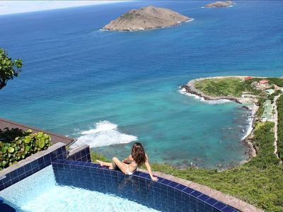 St Barthelemy villa rental - Haute Maison infinity pool with northeastern coastal views
