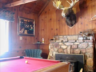 The Moose Lodge has a full size pooltable and a foosball table