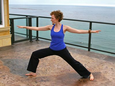Laguna Beach villa rental - Perhaps yoga on the deck is more your style