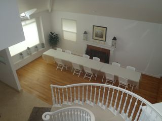 Half Moon Bay estate photo - View from upstairs, looking down into dining area