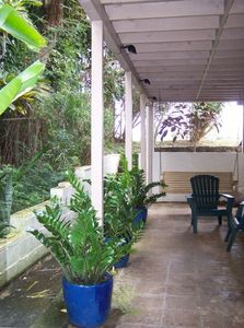 Hauula house rental - LOWER LEVEL LANAI