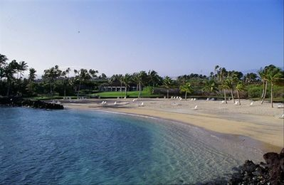 Mauna Lani Beach Club. Private beautiful and calm beach.