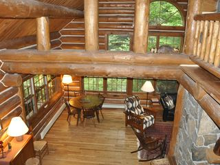 Piseco Lake lodge photo - View from Stairway.