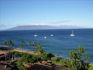 Lahaina condo photo - Ocean View from Living Room & Lanai