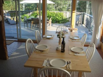 Dining room and front deck