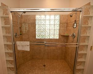 Master walk-in shower, two showerheads. - Phoenix house vacation rental photo