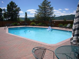 Steamboat Springs townhome photo - Largest heated pool on the mountain, open summer only,