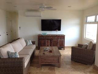 Anahola house photo - Living Room with Ocean views and 55 ' TV