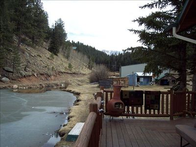 The Deck by the Trout Pond In the Winter.