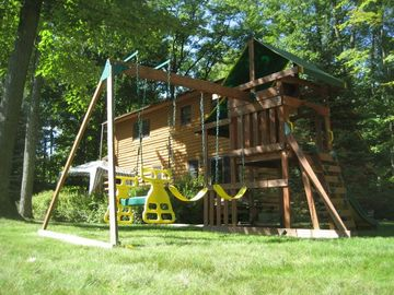 Playset and swing/fort for the children