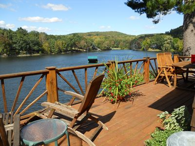 Copake cottage rental - Summer on the Deck