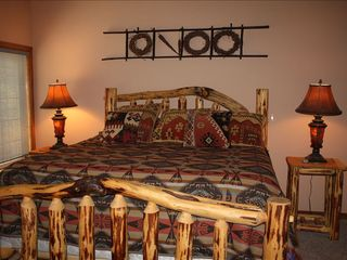 Upstairs Master Bedroom with King Bed - Sunriver house vacation rental photo