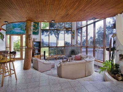 Sunken Living Room w/ FP and Lake/Garden views.. Casual Elegance at it's best!