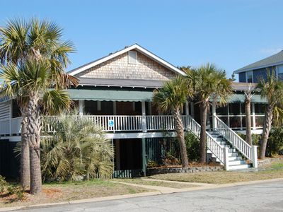 Wrightsville Beach cottage rental - Front of house. Off-street parking for up to 5 cars.