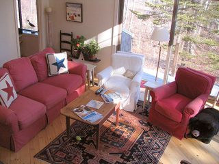 living room from above - Cushing house vacation rental photo