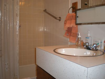 Master bath includes tub/shower, toilet, and sink