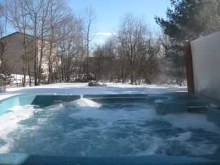 Towamensing Trails house photo - Hot tub running all year round (winter view)