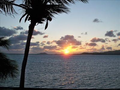 This is an early morning sun rise as seen from the lanai.