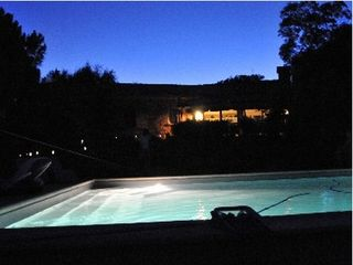 Palombaggia villa photo - pool by night