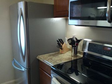 kitchen - all new stainless steel appliances
