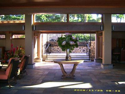 Wailea condo rental - Elua 2502 Entrance to Pavilion Pool