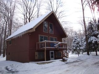 Winter in the Poconos - Locust Lake chalet vacation rental photo