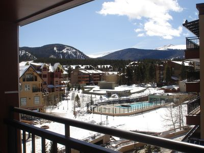 Village at Breckenridge condo rental - 270 degree view of Mt. Baldy, Maggie Pond and Peak 9