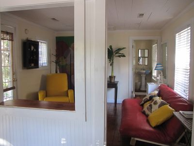 Folly Beach cottage rental - Wee Daffodil living room