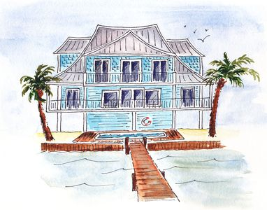 Waterfront Home -Heated Pool, Close to Restaurants and Gulf