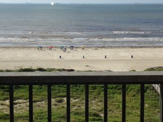 Galveston condo photo - Awesome view from the 7th floor private balcony off of the family room!