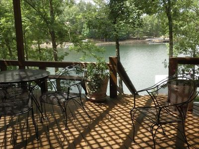 Great View from Upstairs Deck. Big Deck w Table, 6 Chairs, New Weber Gas Grill