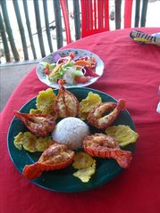 Bahia Gigante villa photo - Restaurant food is fresh and inexpensive