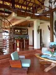 Uvita villa photo - A lovely open floor plan include living & dining room, kitchen and upstairs
