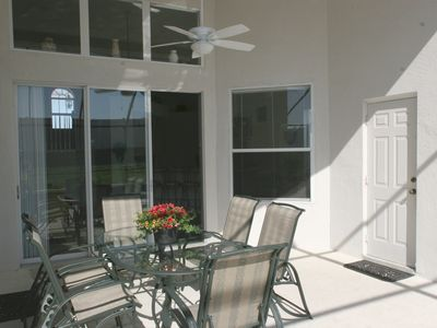 Windsor Palms villa rental - The shady spot outside