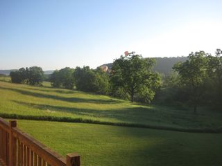Galena house photo - View of Balloon Races from Back Deck
