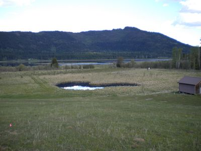 Pond and maintenance shed. trail to viewing tower over looking McArhur lake.