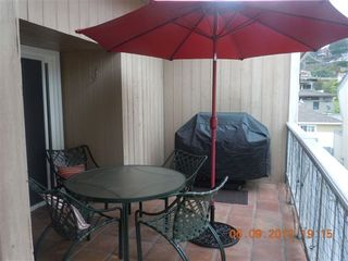Del Mar condo photo - deck with BBQ