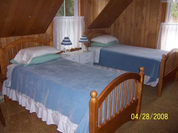 The other bedroom with twin beds.