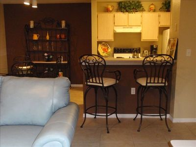 Fully Equipped Kitchen and Bar Social Area