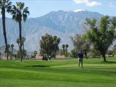 Views of the Dinah Shore golf course in Mission Hills - just outside your doors