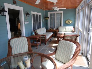 Rehoboth Beach house photo - Cozy screened-in front porch for those lazy days!