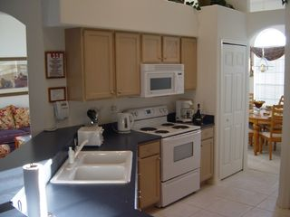 Orange Tree villa photo - Fully equipped Kitchen with side by side Fridge / Freeezer and Icemaker