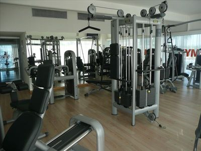 Gym with complete weight equipment