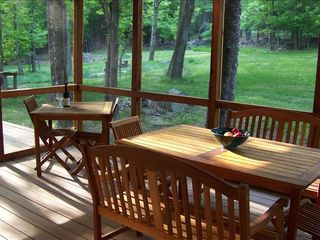 Woodstock cabin photo - Lunch on the Screened Porch